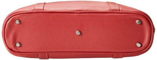Piel Leather Computertasche in Sattelbraun, Einheitsgröße rot