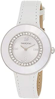 Swarovski Octea Dressy Women's Silver Dial Leather Band Watch - 508