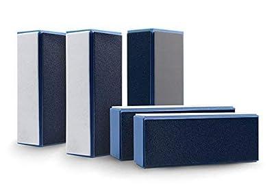 EuBeCos Hochglanz Polierblock Blau