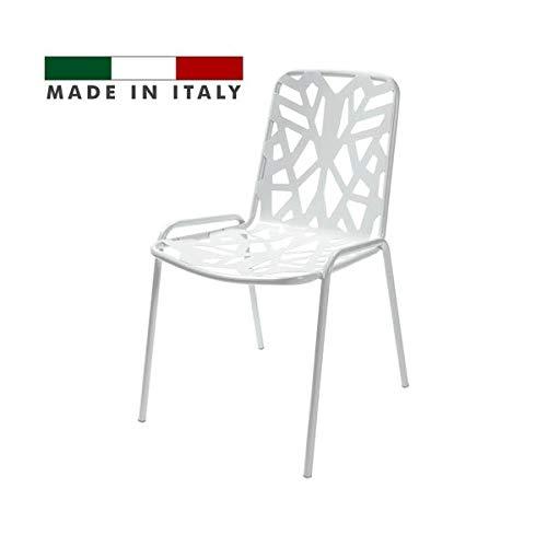 Amazon De Rd Italia Impilabile Design Moderner Stuhl Mit Dekor