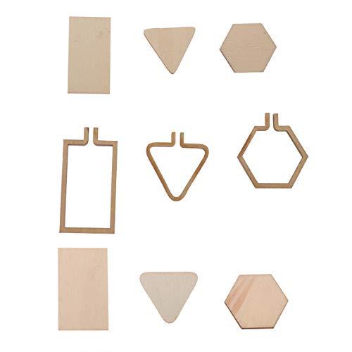 SUPVOX 7 stücke Mini Holz Stickrahmen Ring Stickerei Kreis Mini Kreuzstich Hoops Miniatur Stickpackungen Für Rahmen Handwerk -