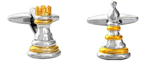 Fantaisie Chessmen Jeu et Pion Boutons de manchette