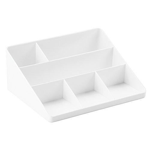 iDesign Linus Ordnungssystem für Briefe und Büroartikel, Briefablage aus Kunststoff, Ablagefach für den Schreibtisch oder das Regal, weiß
