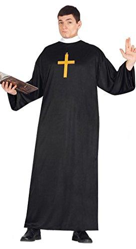 Kostüm Priester schwarzer Soutane wirtschaftlich - Priester Für Erwachsenen Kostüm