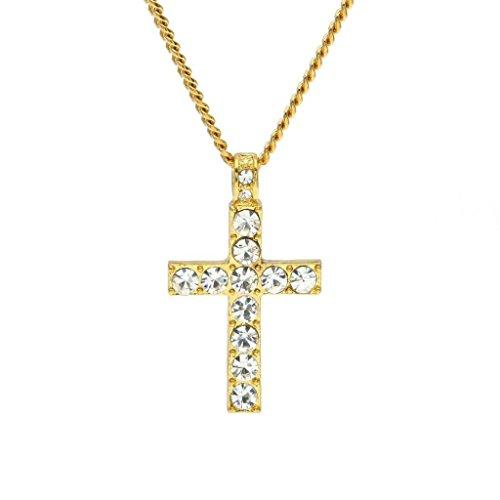 VJGOAL-Damen-Halskette-Mnner-Frauen-Hip-Hop-Schmuck-Bling-Strass-Kristall-Kreuz-Anhnger-Halskette-Frau-Valentinstag-Geschenk