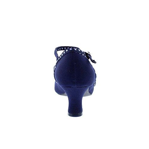 Ruby Shoo Damen Pumps Cordelia Polka Dot Schleifen Schuhe Blau Geschlossen 37 - 5