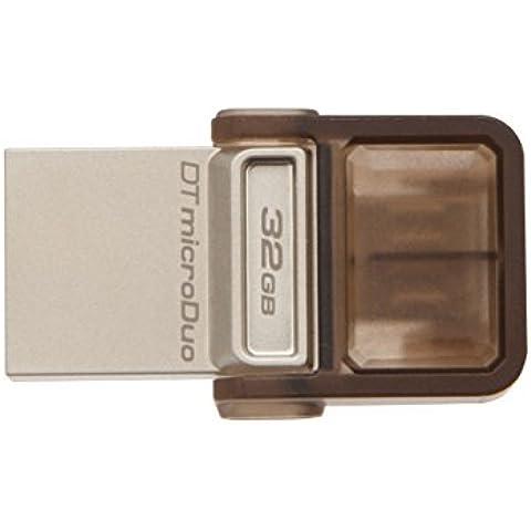 Kingston DTDUO/32GB - Memoria USB de 32 GB, marrón