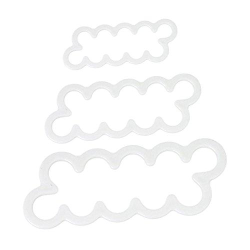 Lalang 3 Verschiedene Größen Rosen Ausstecher DIY Fondant Ausstechformen Deko Cookies Fondant Kuchen Sugarcraft Formrahmen Scherblock Werkzeug Cutter Tool