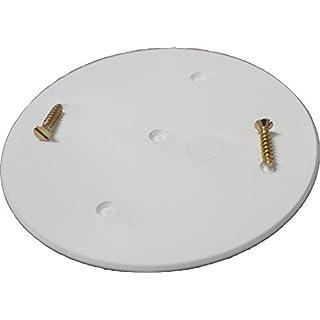 10 Stück F-tronic Schraubdeckel rund weiß 91mm Durchmesser für Abzweigdose / Verteiler