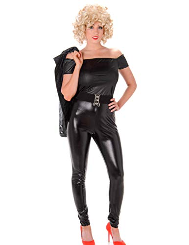 Generique - Sexy 50er Jahre Kostüm für Damen schwarz Filmheldin Tänzerin L