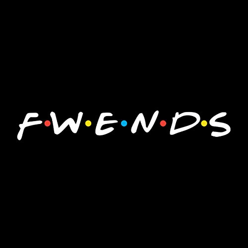 Friends Fwends Women's Vest Black