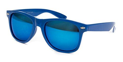 Ciffre-UV®400 Lunettes de Soleil STYLE Nerd Retro Vintage Norme UV 400 Lunette Bleu Blue Bleu GotGt6TBA1