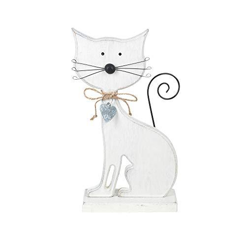 Vidal Gifts Decorative Figure Cat Wood 24 cm