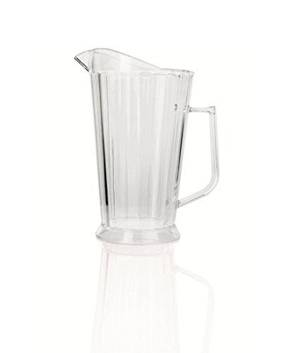 Kerafactum® - Grosser Pitcher Saftkrug Krug für Getränke Wasser Kanne Bier oder Limonade Wasserkrug mit Eislippe 2 Liter aus Kunststoff - jug with ice lip (Limonade Liter 2)