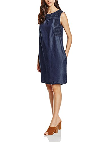 s.Oliver Damen Kleid 14.605.82.5115, Blau (Blue Denim Non Stretch 56Y5), 38