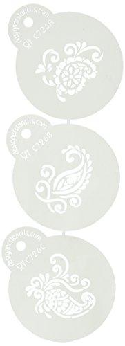 Designer Schablonen c726Seide Paisley Cookie Schablonen, Mini, Beige/halbtransparent