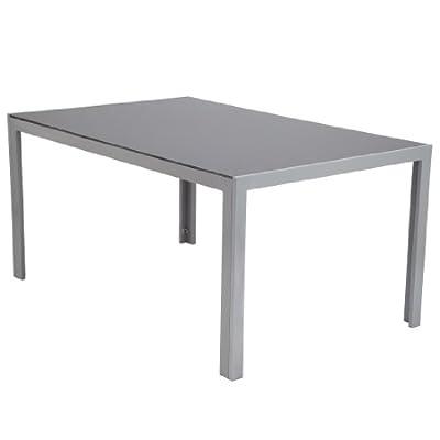 Ultranatura Aluminium Glastisch, Korfu-Serie - 150 x 96 x 73 cm von Ultranatura auf Gartenmöbel von Du und Dein Garten
