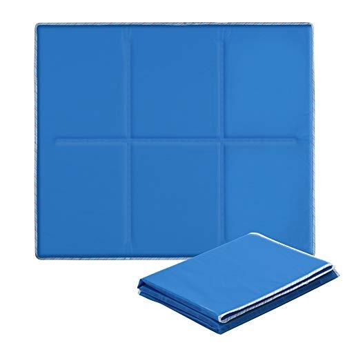 Alfombrilla de Refrigeración Animales Nevera y Manta para Perro Fresco Cojín Azul Nevera Techo Perfecta para Camas de Suelo Couch Zwinger Auto 70*80cm