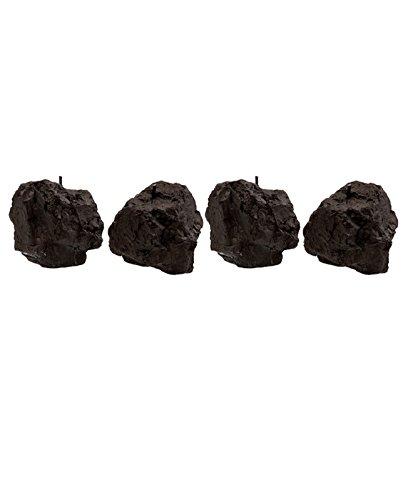 candellana Kerzen Steine 4pcs-Black