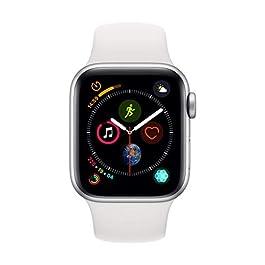 Apple Watch Series 4 (GPS, 40mm) Cassa in Alluminio Argento e Cinturino Sport Bianco