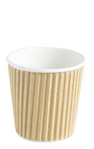 We Can Source It LTD - 100 x Power 4oz G geriffelt 3-lagige isoliert Papier Becher für Tee Espresso Kaffee Heiße Getränke - voll recyclebar Wenn gesendet zu den korrigieren mit Sitz in Großbritannien