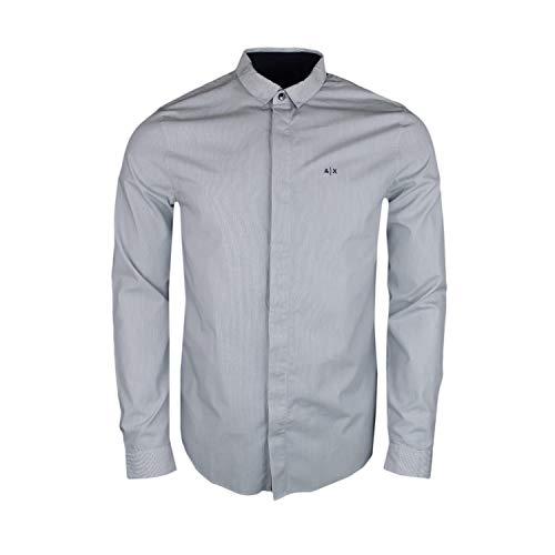 Camicia Armani Exchange Uomo 3GZC34 ZNATZ Nero Bianco S