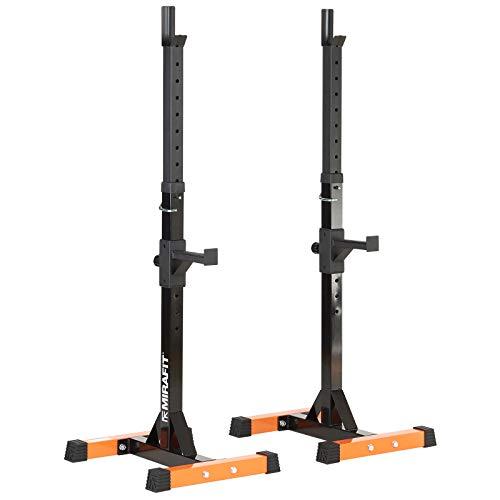 Mirafit - Verstellbare Hantelständer mit Sicherheitsablagen (Rack-cage Squat)
