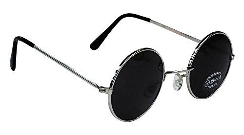 Lennon Kostüm John - Brille im John-Lennon-Stil, rund, schwarz