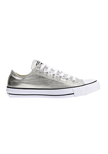 converse-unisex-erwachsene-seasonal-metallic-sneaker-mehrfarbig-light-gold-white-black-38-eu
