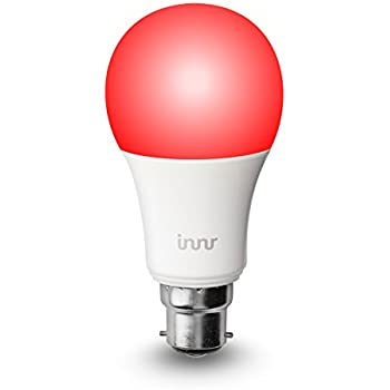 Innr B22 smart, colour, dimmable, retrofit RGBW LED bulb (Hue* & Alexa compatible) BY 185C