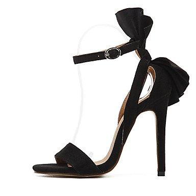 CatThief Damen-High Heels-Kleid-Vlies-Stöckelabsatz-Club-Schuhe-Schwarz Rot Black