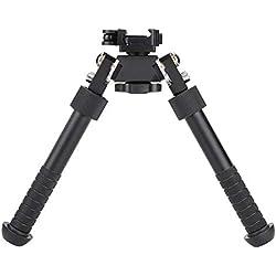 Alomejor Rifle Bipod V8 Soporte de bípode Ajustable de 360 Grados de precisión para Accesorios de Rifle de Caza para Exteriores