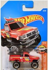 HOT WHEELS 2017 #82 -HW HOT TRUCKS 1987 TOYOTA PICKUP TRUCK #6/10 RED (Toyota Pickup Truck)