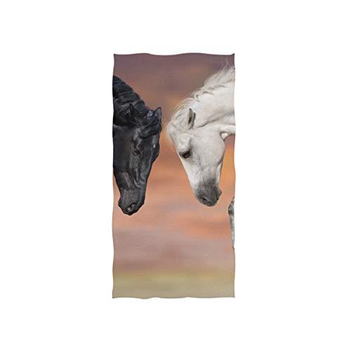 FANTAZIO Premium Baumwoll-Handtuch Pferdekämpfer Luxus Baumwolle Waschlappen