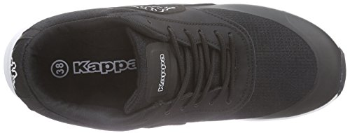 Kappa Milla Footwear Women, Synthetic/Mesh, Baskets Basses Femme Noir (Black/white)