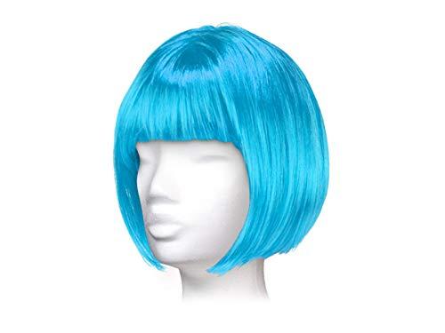 Parrucca da donna per carnevale di vari colori, taglio corto bob, taglia unica per donne adulte stile elegante classica comoda confortevole da indossare bellissima fashion lifestyle, corto blu