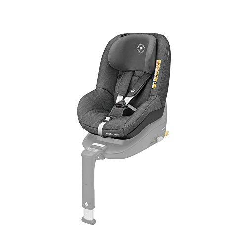 Bébé Confort PEARL SMART i-Size \'Sparkling Grey\' - Silla coche para niños compatible con la base FamilyFix One, contramarcha y en sentido de la marcha, 6 meses-4 años, 9-18 kg, 67-105 cm, gris oscuro