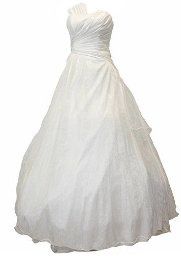 JuJu & Christine Langes Taft Kleid, Abendkleid, Ballkleid, Cocktailkleid (A2013) weiss Gr. 34