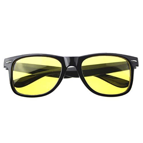 Luckiests Gelb-Linse Clear Brille Frauen Männer Nachtsicht-Brillen Autofahrer Sonnenbrille