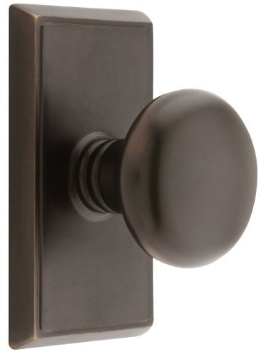 Providence Dummy (Providence Door Set With Round Brass Knobs Double Dummy In Oil Rubbed Bronze. Doorsets. by Emtek)