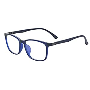 ALWAYSUV Voll Rahmen Rechteckig Klare Gläsern Optische Stärke Rahmen Brillenfassung Nerd Brille