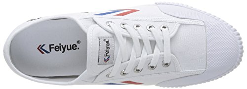 Feiyue Fe Lo Classic, Baskets mode homme Blanc (White/Blue/Red/Gum)