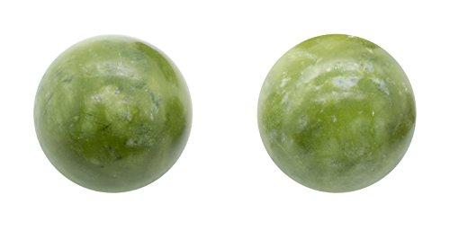 QiGong Kugeln | Yin Yang Kugeln | Jade Stein grün | Ø: ca. 50mm