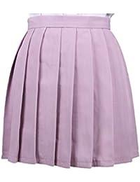 1b217a58d8 WEIMEITE Trajes Cosplay Plisados Japón Cintura Alta Mujeres Faldas  Uniformes Escolares Mujeres Plaid Mini Falda Plisada