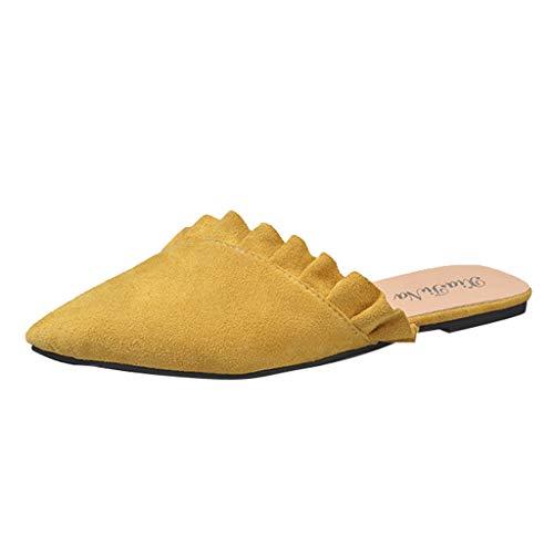 KERULA Sandali Donna, Unisex Adulto Pantofole Piatte delle Signore Casuali Pigre Scarpe di Modo Sinlge a Punta Trekking Infradito può Essere Usato Spiaggia e Piscina Esterno