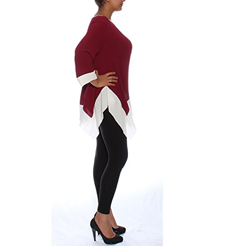 Candy Clothing -  Maglia a manica lunga  - Donna Maroon
