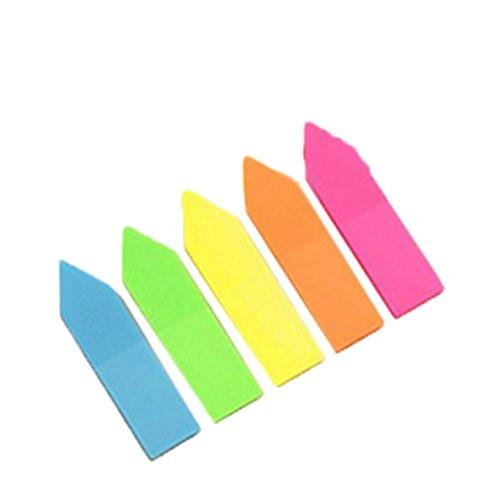 caolator Stickies PE striscia adesiva trasparente a forma di freccia Sticky Note Sticky Note parati Foglietti divertente klebend evidenziatore strisce righe di testo Segnapagina Segnapagina Bandiere Tabs