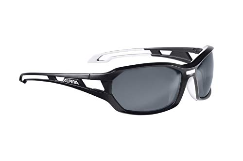 Alpina Sonnenbrille Amition BERRYN P Sportbrille, black matt-white, One Size