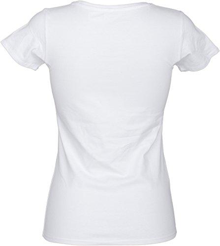 Küstenluder DIE EINE WAHRE LIEBE Sailor Matrosen Oldschool SHIRT Rockabilly Weiß mit buntem Print
