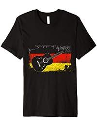 Gitarre T-Shirt - Deutschland Flagge - Gitarrist Musiker